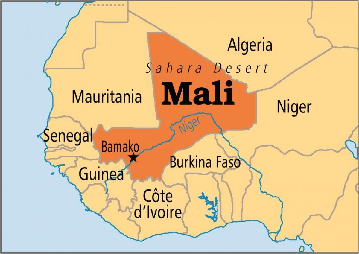 Bamako Mali Map Bamako Mali map   Map of bamako Mali (Western Africa   Africa)