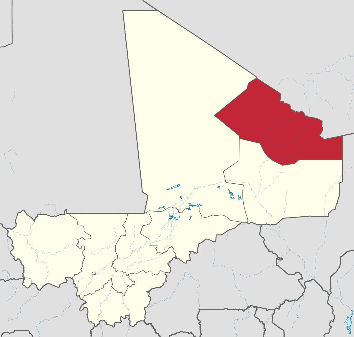 Map of kidal Mali