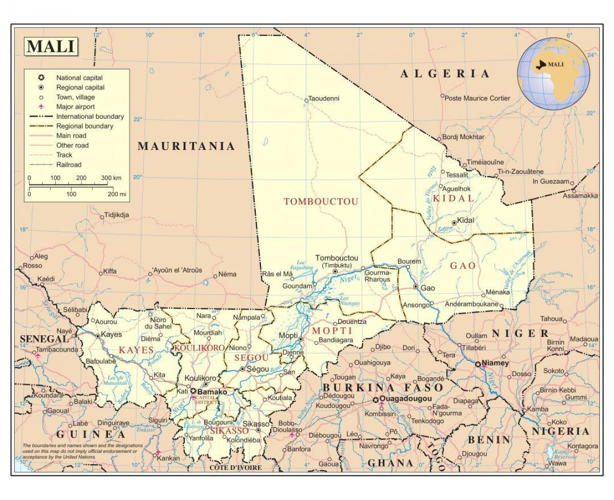 Map of Mali deep