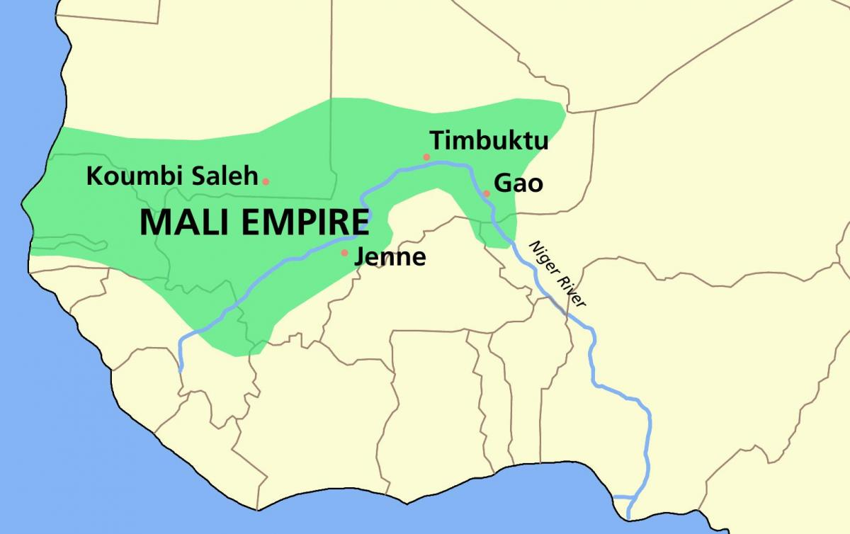 kingdom of Mali map