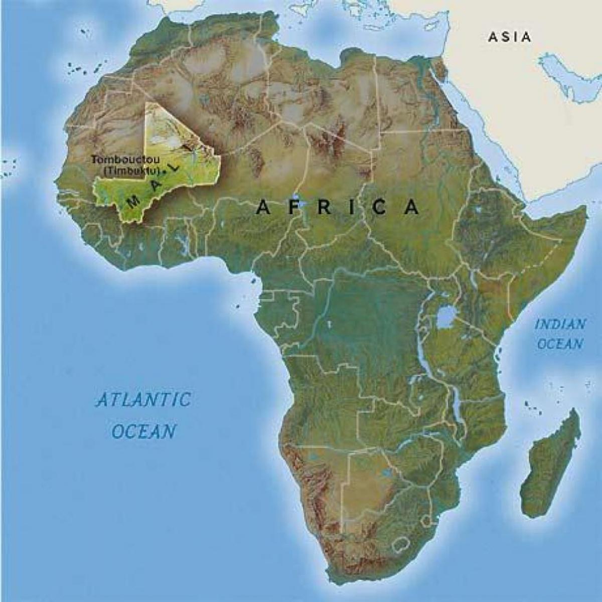 Timbuktu Mali map - Tombouctou Mali map (Western Africa - Africa)